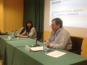 Con Elena Baixauli en Jornadas de Valladolid