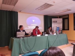 Con Javier Ales y Juan Diego en Jornadas en Valladolid