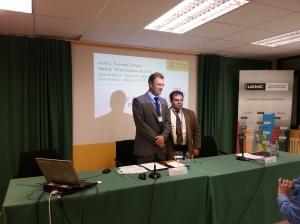 Con Julio Fuentes del Ministerio de Justicia en Valladolid