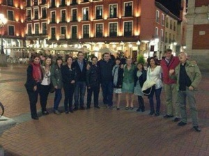Noche en Valladolid con asistentes Jornadas Mediación