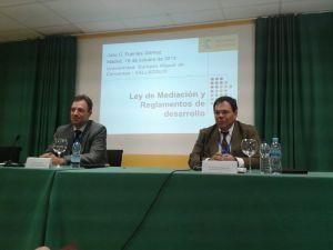 Con Julio Fuentes en Valladolid